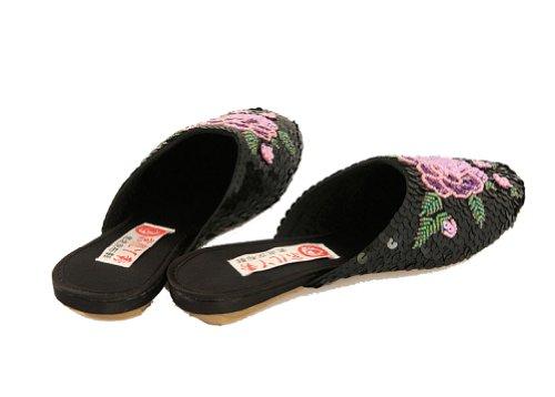 Zapatillas para Negro estar de China mujer negro Interact casa negro por 1nqaAwRH