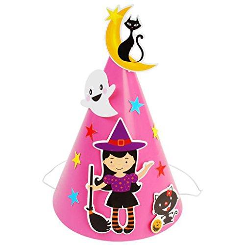 SOthread Halloween cosplay DIY Paper Cartoon Hat party Ornament kid Children gift (Pink) - Wizard Of Oz Diy Costumes