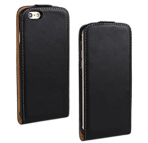 """ULTRA SLIM PU Leather Vertical Flip Case Cover Pouch for Apple iPhone 6 (4.7"""") (Black)"""
