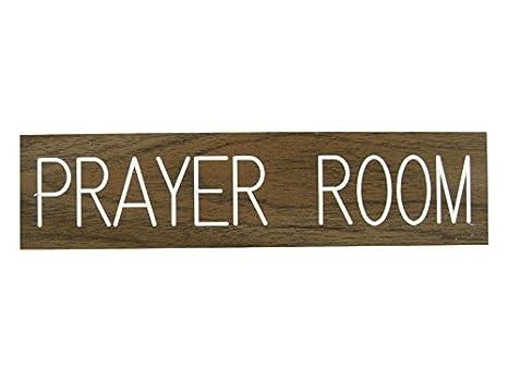 Amazon.com: Cartel para puerta de sala de oración Formica ...