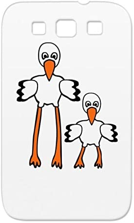 Stork Pregnant Cartoon Funny Family Nature Pregnancy Bird Baby Shock Absorption Bronze Cover Case For Sumsang Galaxy S3 Amazon Co Uk Electronics