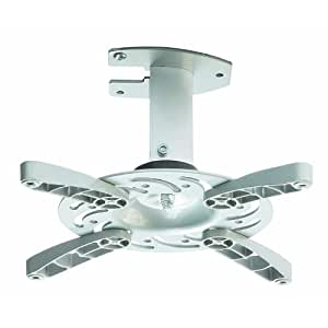 Soporte de techo para proyector en blanco inclinable 30° girable 360° para BenQ MS500