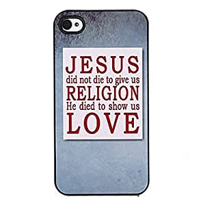 YULIN About Love Pattern Aluminous Hard Case for iPhone 4/4S