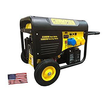 Generador eléctrico Champion CPG6500EU   5.500 W - 10 horas   Arranque eléctrico y mando a distancia: Amazon.es: Jardín