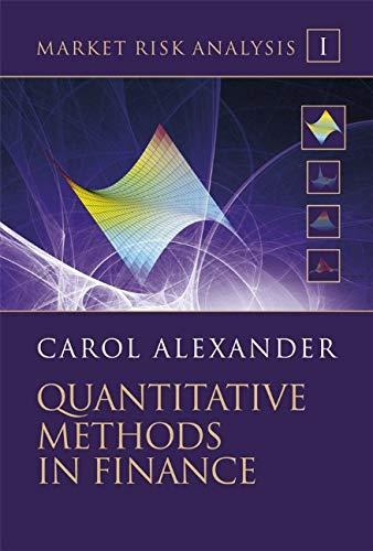 Market Risk Analysis, Quantitative Methods in Finance (Volume I)