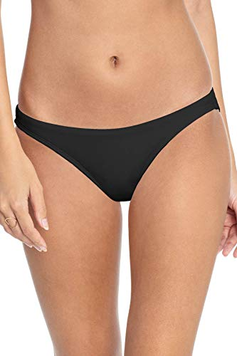 Robin Piccone Women's Ava Hipster Bikini Bottom Black M