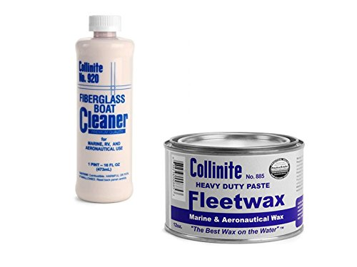 Collinite 920 Fiberglass Boat Cleaner & 885 Fleetwax Paste Combo Pack
