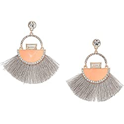 Guess Love Struck Women's Post Fringe Drop Earrings, Rose Gold, One Size