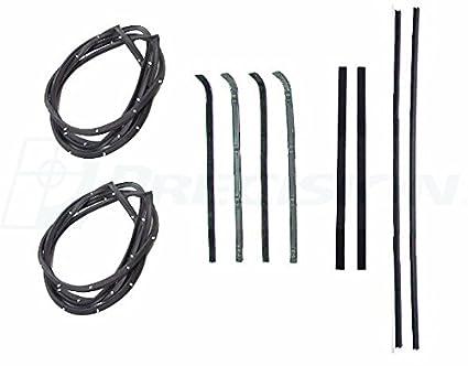 73-80 Chevy Truck Door Gaskets /& Beltline Molding Channel Weatherstrip Seal Kit