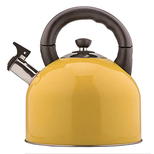 Kettle Stainless Steel Household Kettle Induction Cooker Gas Universal Kettle Kitchen Fashion Kettle 4.4L (color : Yellow)