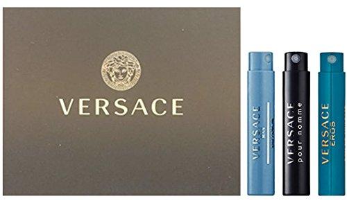 VERSACE for Men Fragrance Sample Trio - Pour Homme, Man Eau Fraiche, & Eros