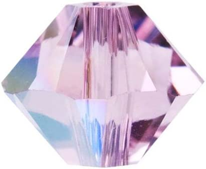 12 Lilac Shadow Swarovski Crystal Beads Bicone 5328 6mm