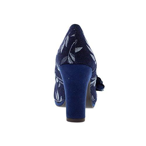 Ruby Shoo Ladies Charlotte Navy Vegan Friendly Shoes-UK 9 (EU 42)