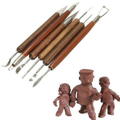 6pcs Clay Sculpting Wax Carving Pottery