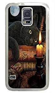The Witching Hour Black Cat Polycarbonate Hard Case Cover for Samsung S5/Samsung Galaxy S5 Transparent