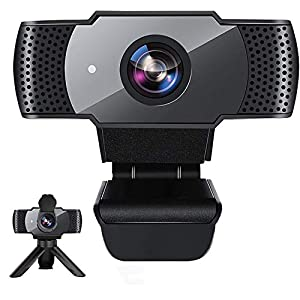 Flashandfocus.com 41UukAaCp3L._SS300_ Webcam with Microphone for Desktop, 1080P HD USB Computer Cameras with Privacy Shutter&Webcam Tripod, Streaming Webcam…