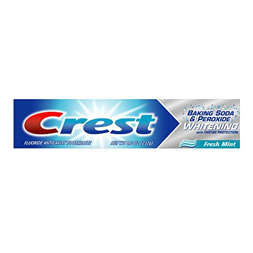 Crest Baking Soda And Peroxide Whitening With Tartar Protection Fresh Mint Flavor Toothpaste 8.2 Oz (Pack of 6)