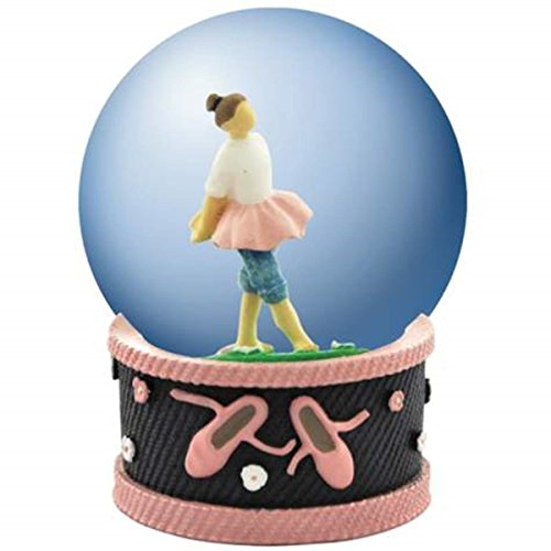 Mm 45 Globe Water (WL SS-WL-18475 45mm Ballerina Girl in Blue Jeans/Tutu Water Globe Decorated)
