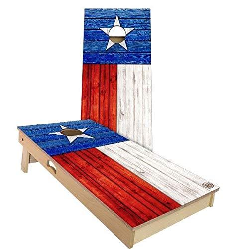 Skip's Garage テキサス州旗コーンホールボードセット - サイズとアクセサリーをお選びください - ボード2枚、バッグ8枚など B07N4DHZ2Z C. 2x4 Boards (Corn Filled Bags)|A.付属品なし  C. 2x4 Boards (Corn Filled Bags), 小田原市 87210f68