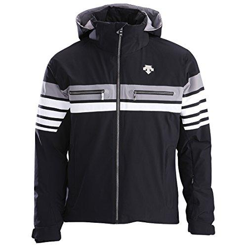 Descente Men's Editor Jacket Black Super White Grey Size (Descente Black Jacket)