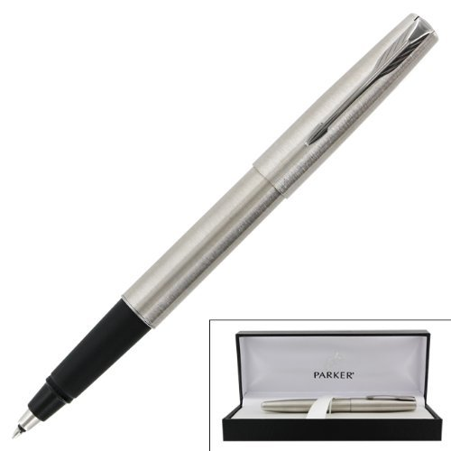 Parker Frontier Stainless Steel Chrome Trim Rollerball Pen (Parker Frontier Rollerball Pen)