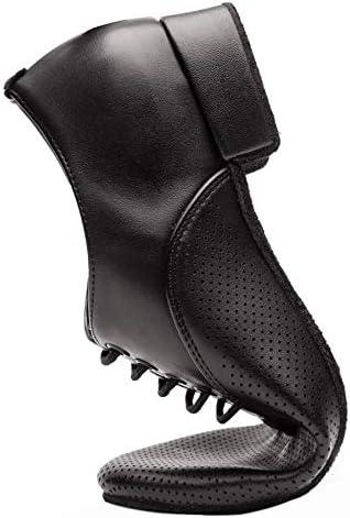 Gogodance Mens Boys Breathable Ballroom Dance Shoes Latin Jazz Tango Waltz Black Leather Shoes
