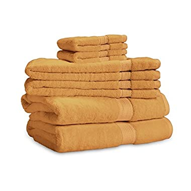 900 Gram 6-Piece Egyptian Cotton Towel Set - Heavy Weight & Absorbent by ExceptionalSheets, Rust