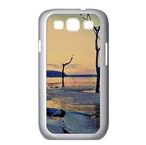 Clinton Lake Winter Watercolor style Cover Samsung Galaxy S3 I9300 Case (Winter Watercolor style Cover Samsung Galaxy S3 I9300 Case)