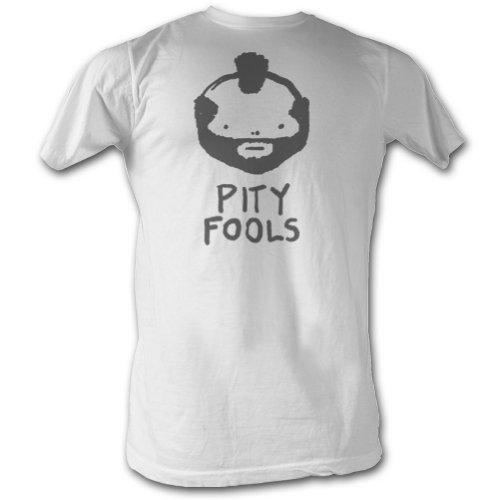 Mr. T Pity Fools Adult T-Shirt Tee 3X White]()