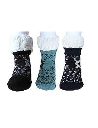 quarter socks Fralosha warm socks womens socks casual socks 3 pairs
