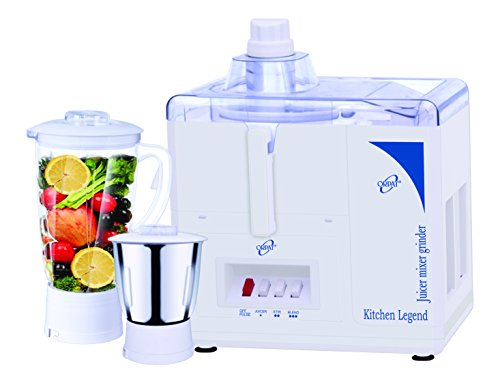 Orpat Kitchen Legend 500-Watt Juicer Mixer Grinder (White)