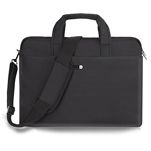 15.6 Inch Laptop Bag Laptop Messenger Bag Multi-functional Laptop Case Water-Resisatant Nylon Business Office Computer Bags for Men Women Fit Notebook Hp Dell Lenvo Asus Toshiba Acer Apple (Nylon Case Hp Universal)