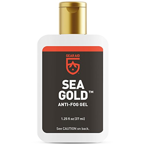 Gear Aid Sea Gold Anti-fog Gel Coating for SCUBA Masks, 1.25 fl oz