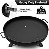Amagabeli Fire Pit Outdoor Wood Burning Fire Bowl