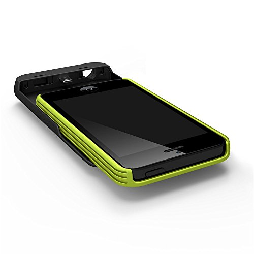 Tylt IP5PCG2-T Energi Sliding Power Case for iPhone 5/5S-Retail Packaging-Green