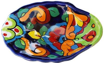 Fine Crafts Imports Oyster Rainbow Mexican Talavera Soap Dish