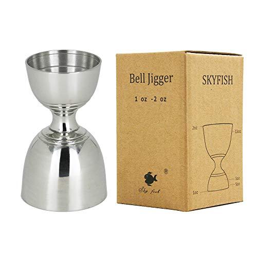 Vking Stainles Steel Bar Jigger 1/2oz 3/2oz Cocktail Jigger Measuring Cups Jigger 1oz 2oz Measure