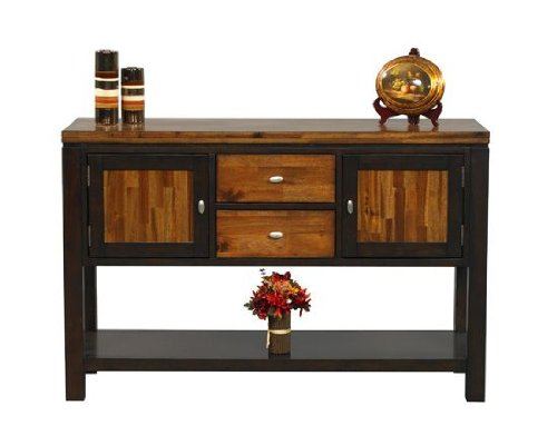 Fifth Avenue Server in Acacia Finish