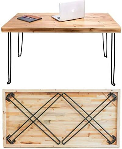 SLEEKFORM Folding Desk Lightweight Portable Wood Table 47″x 24″