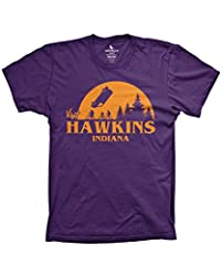 Whether this is your first Stranger Things graphic tee or the most recent addition to your collection, the Visit Hawkins Indiana t-shirt from Guerrilla Tees is a must-have for any tried and true fan. It comes in solid black with soft orange g...