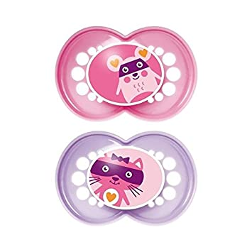 Amazon.com : MAM Original 12+ Months Soother, Pink 2 per pack - Pack ...