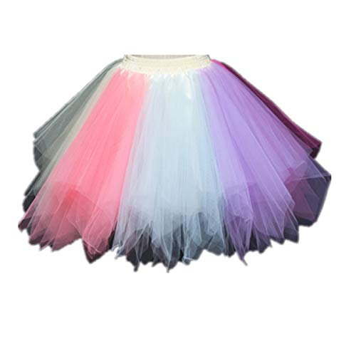 0932c8f4d6 Womens Pink Blue Purple Plus Size Puffy Tutu Layered Tulle Petticoat Skirt  for Party