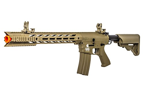 - Lancer Tactical LT25T-G2 Gen 2 Interceptor SPR M4 Carbine AEG Airsoft Rifle (Dark Earth)