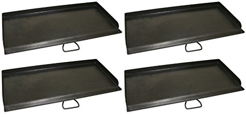 Camp Chef, SG60 Professional True Seasoned Steel Griddle Covers Two Burners with Handle, Fits Most 14'' Cooking Systems (Pack of 4) by Camp Chef