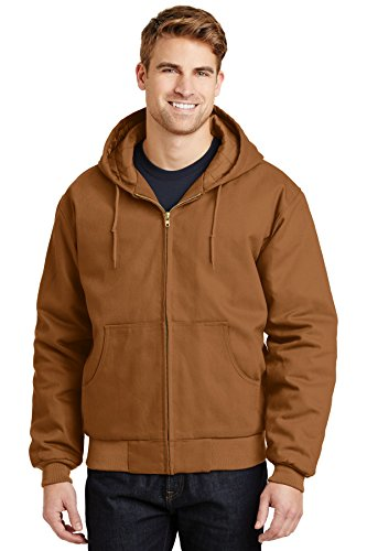 - Cornerstone - Hooded Duck Cloth Work Jacket. J763H - XX-Large - Brown