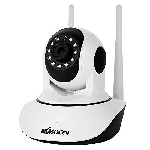 "KKmoon 1080P Wireless WIFI Pan Tilt HD IP Camera 2.0MP 1/2.7"" CMOS 3.6mm Lens Support PTZ Two-way Audio Night Vision Phone APP Control Motion Detection TF Card"