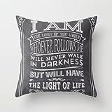 Typographic Motivational Bible Verses – John 8:12 New arrival comfortable pillowcase