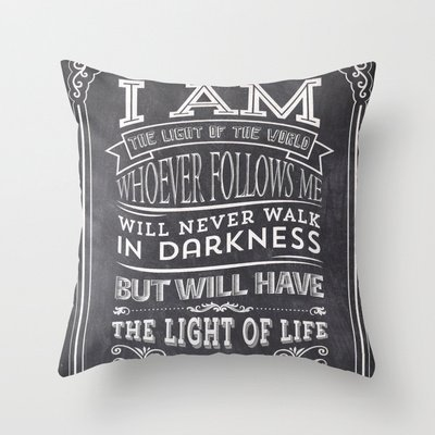 Typographic Motivational Bible Verses – John 8:12 New arrival comfortable pillowcase