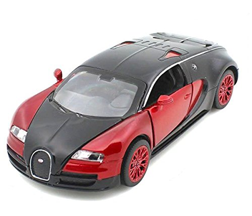 32 Scale Diecast Model (Berry President(TM) 1:32 Bugatti Veyron Diecast Scale Model Alloy Supercar Model Vehicle Simulation Toy for Children Electric Pull Back Cars Sound & Light - Birthday Christmas Gift (Red))