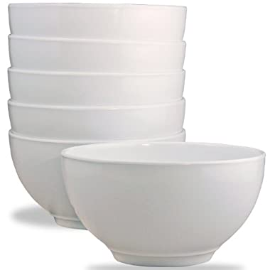 Calypso Basics by Reston Lloyd Melamine Bowl, Set of 6, White